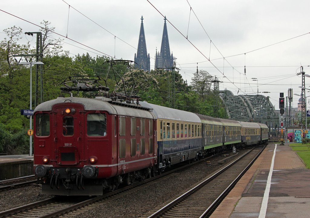 10019 der Centralbahn am Hetzerather in Köln Messe/Deutz am 06.05.2012