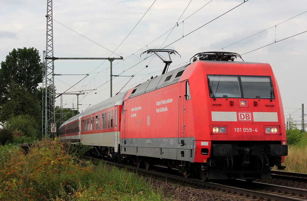 101 059-4 am AZ1354 in Porz Wahn am 24.08.2012