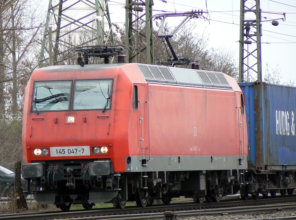 145 047-7 in Gremberg am 25.03.2010.