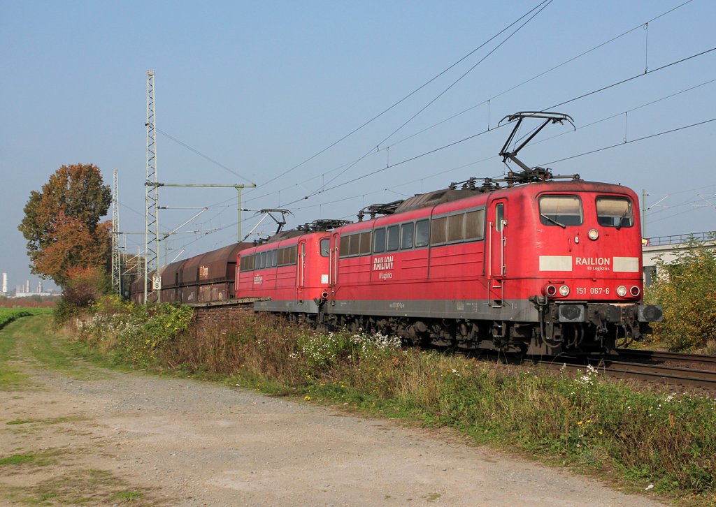 151 067-6 & 151 xxx-x in Porz Wahn am 24.10.2012
