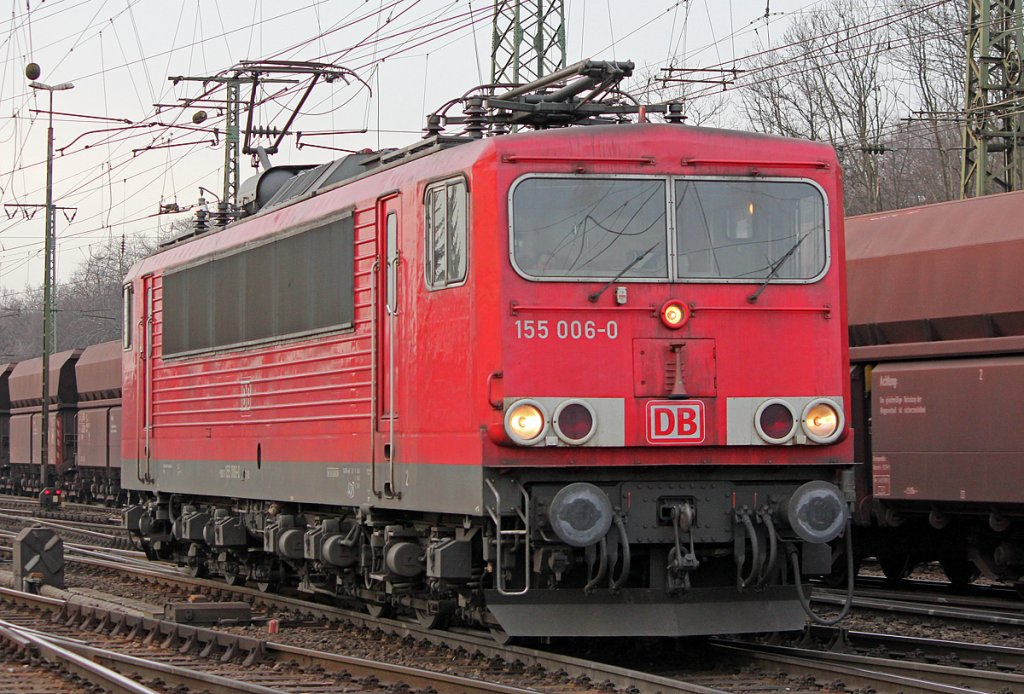 155 006-0 Lz in Gremberg am 23.02.2011
