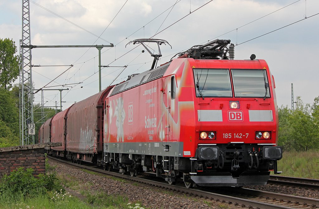185 142-7 in Porz Wahn am 04.05.2011