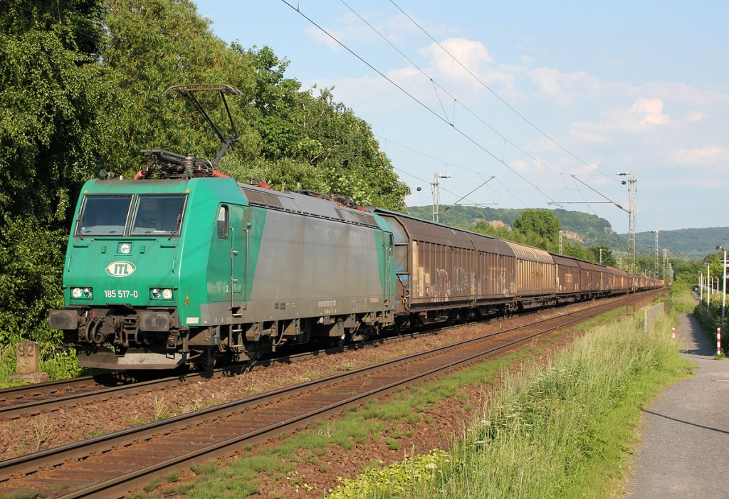 185 517-0 der ITL in Bonn Limperich am 07.06.2013