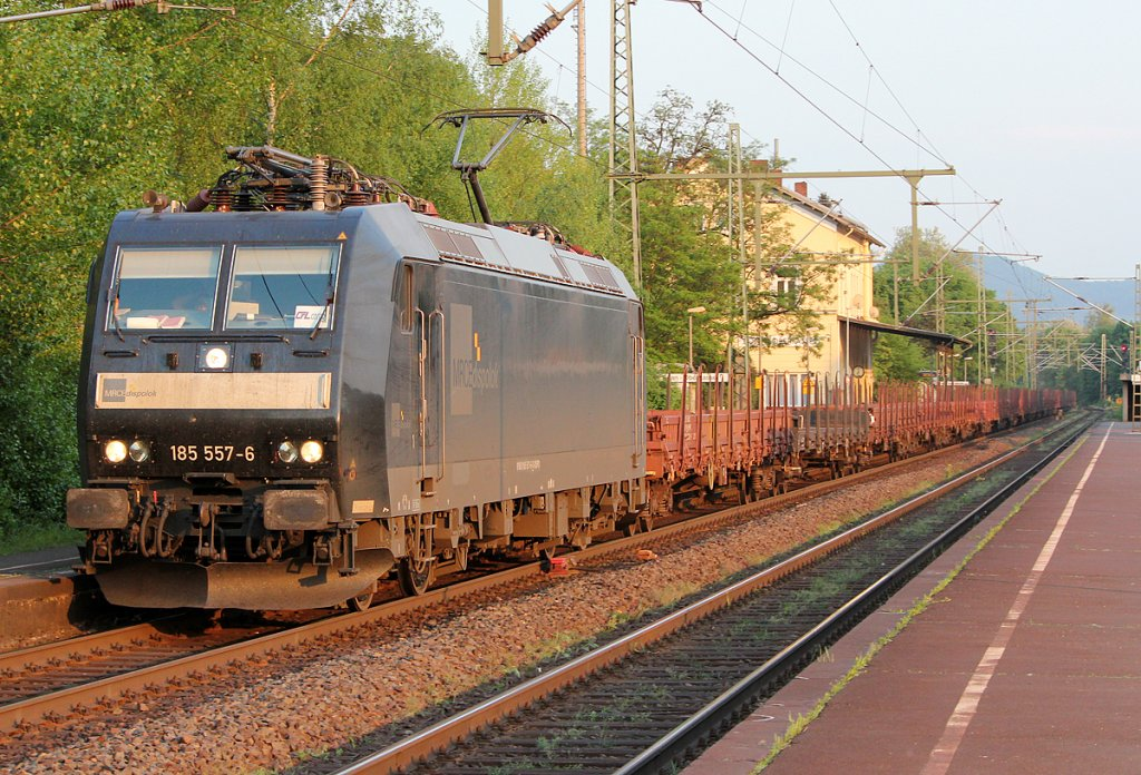 185 557-6 der MRCE/CFL in Bonn Oberkassel am 26.04.2011