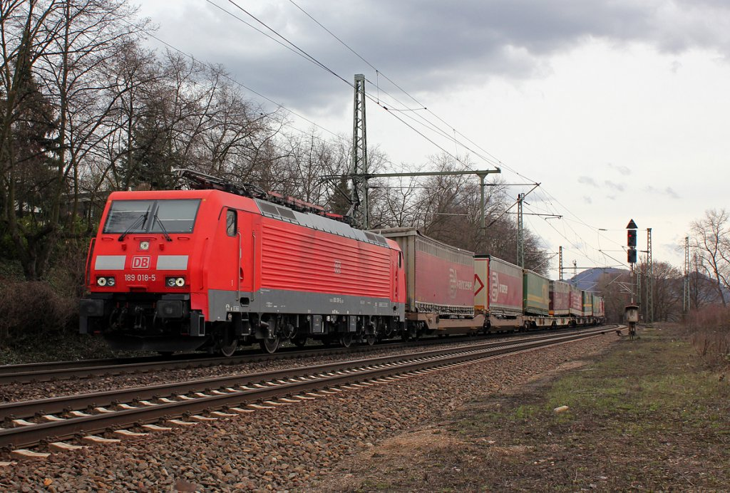 189 018-5 in Bonn Oberkassel am 11.04.2013