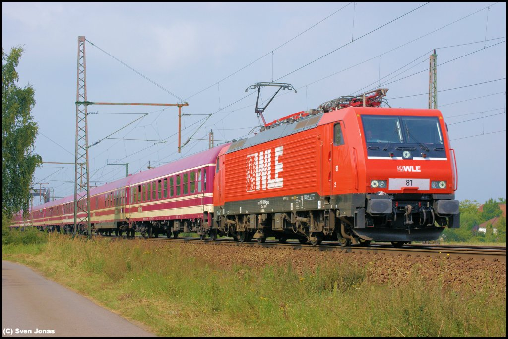 189 801-4 (WLE)  81  in Dedensen-Gümmer am 31.8.2012.