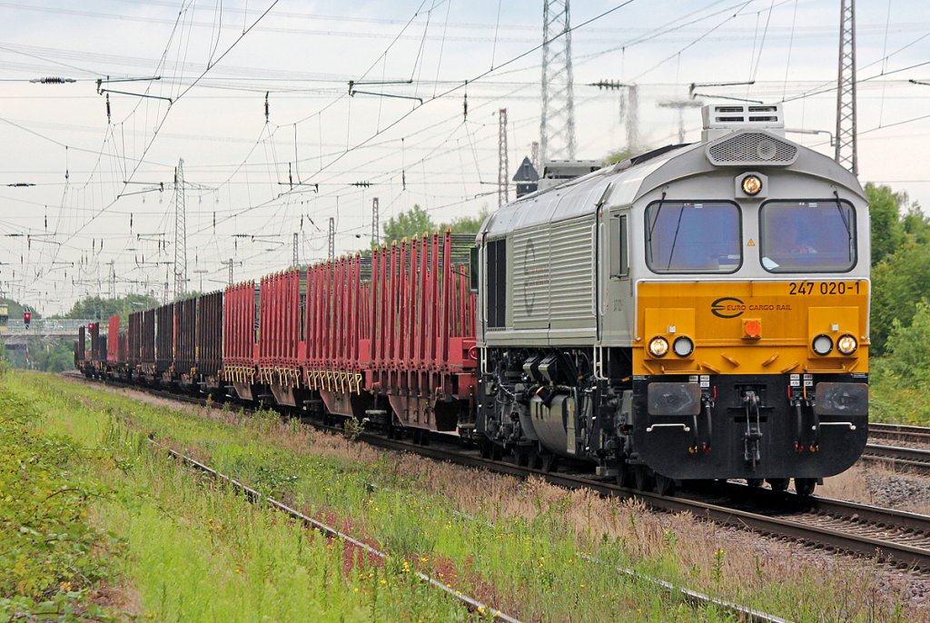 247 020-1 mit Leerzug in Ratingen Lintorf am 19.07.2011