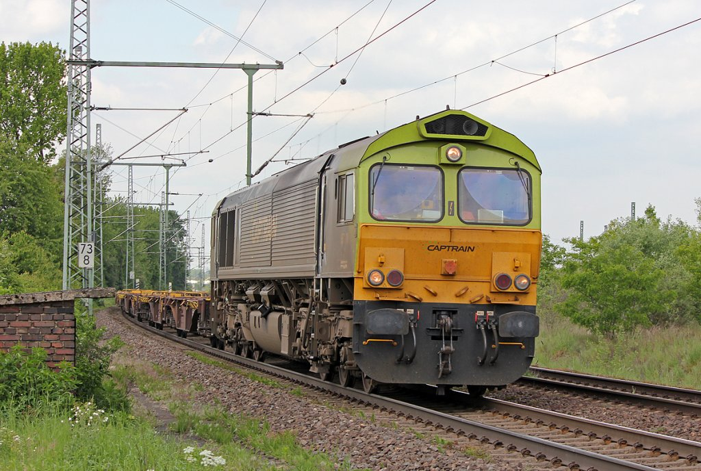 Captrain Class 66 in Porz Wahn am 04.05.2011