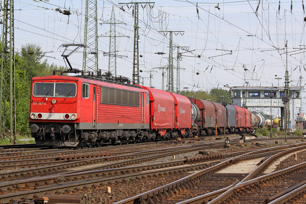 Die 155 167-0 in Gremberg am 05,05,10