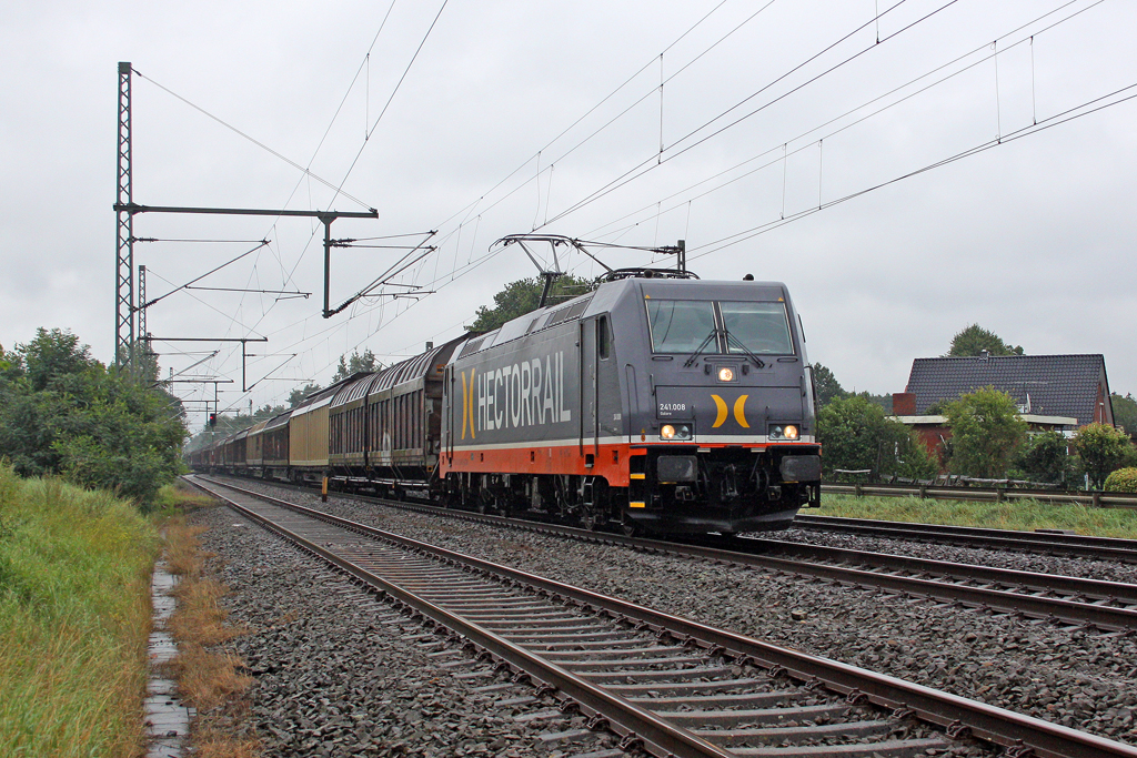 Die 241.008 in Brokstedt am 11,08,11