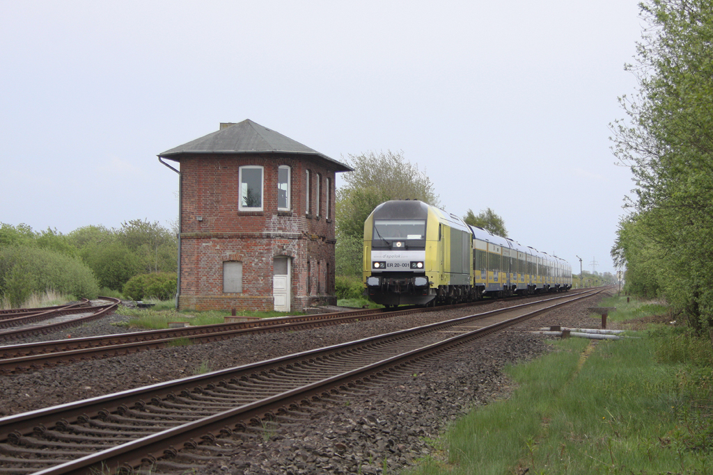 Die ER 20-001 in Risum-Lindholm am 14,05,12