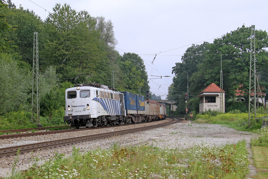 Die Lokomotion 139 213-3 in Aßling (Oberbay) am 04,08,12