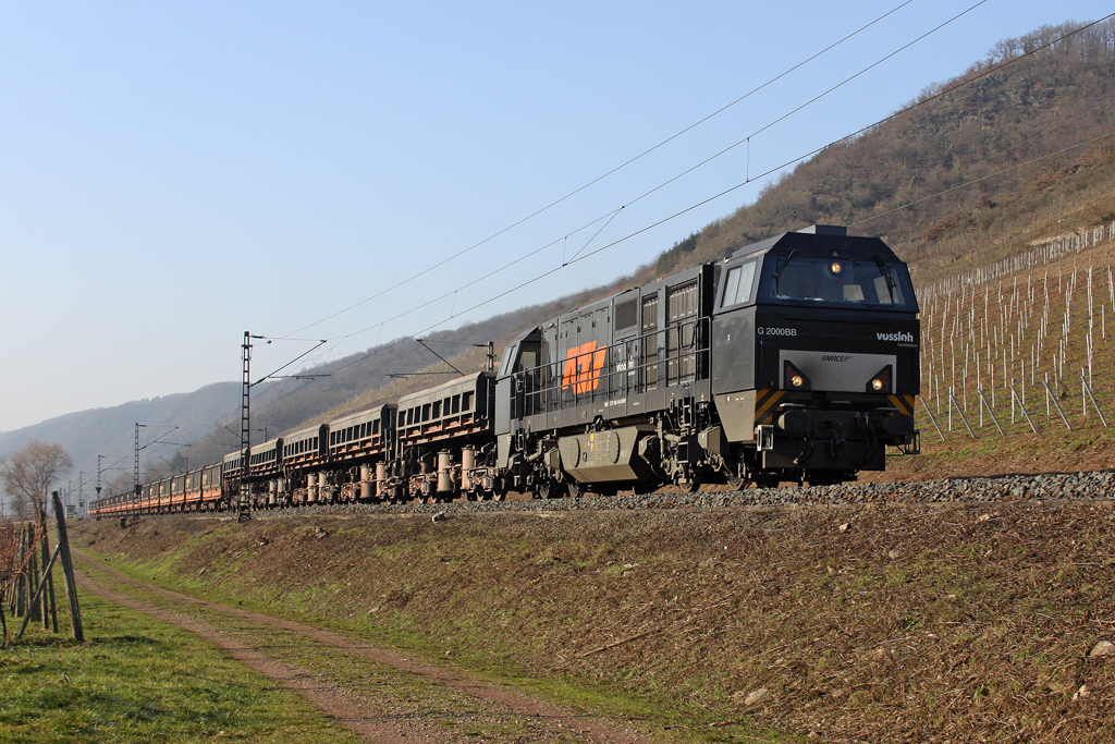 Die RTS G2000 in Pommern (Mosel) am 29,01,11