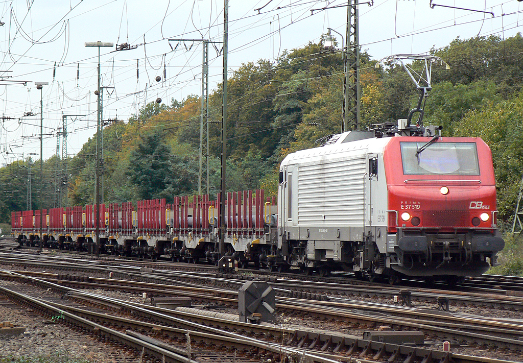 E37 519 der CBRail in Gremberg am 05.10.2010