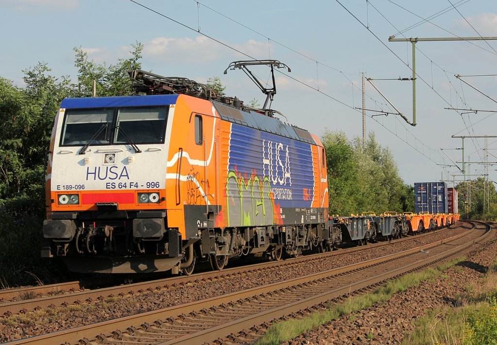 ES 64 F4-996 der HUSA Transportation in Porz Wahn am 15.07.2011