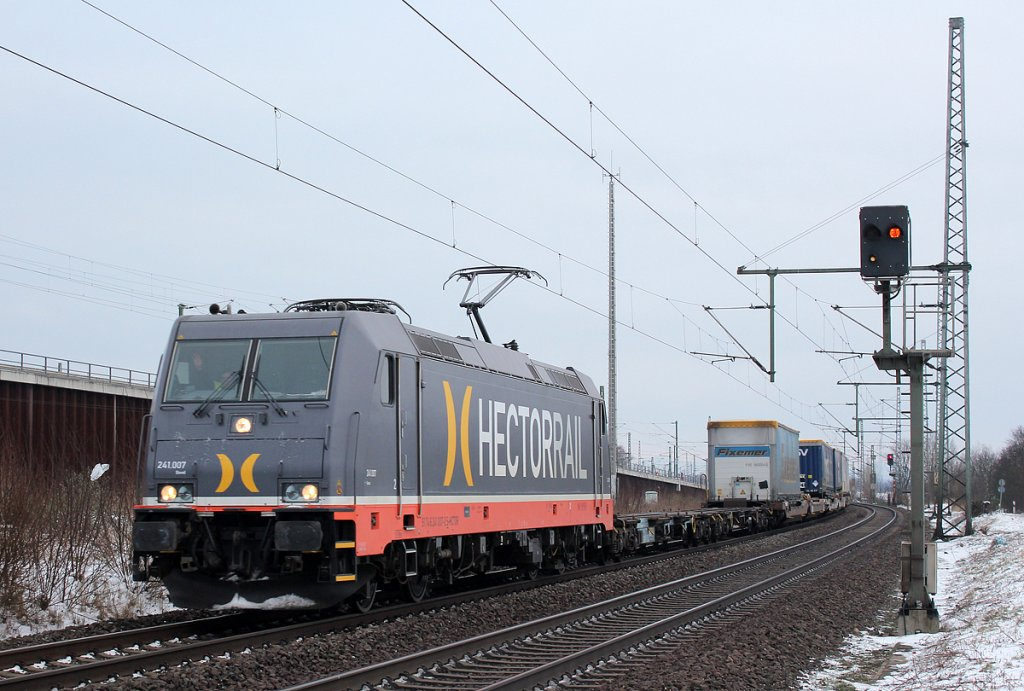 Hectorrails 241.007  Bond  in Porz Wahn am 18.01.2013