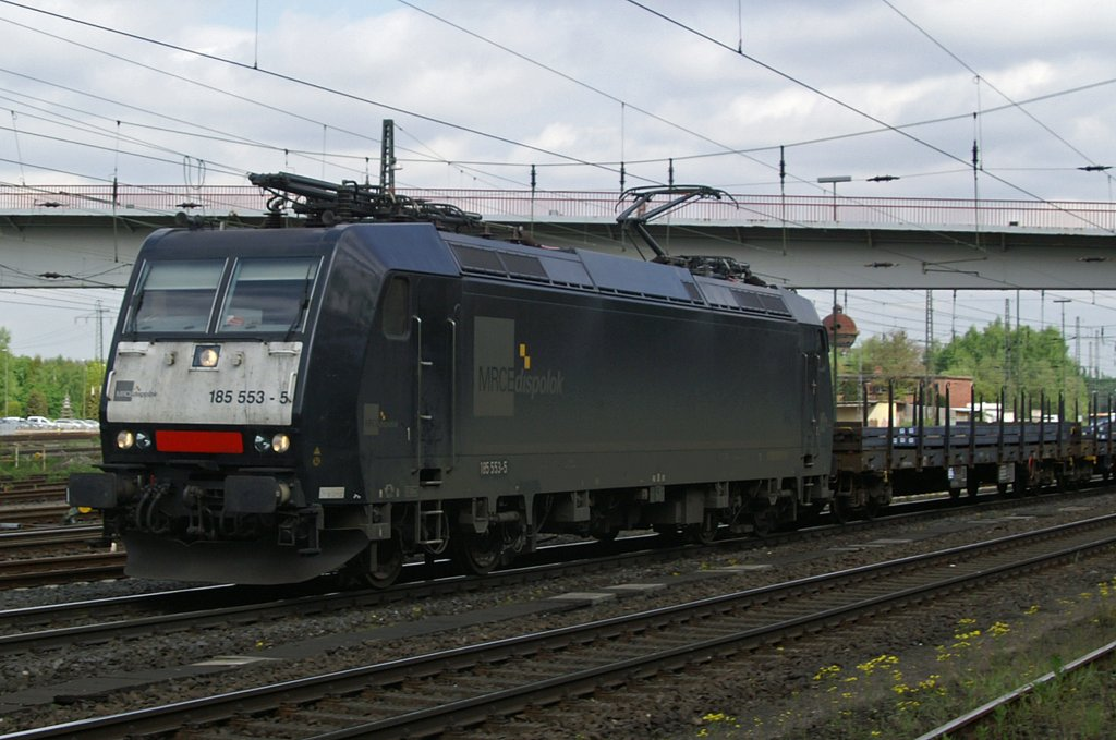 MRCE Dispolok 185 553 am 10.5.10 in Duisburg-Entenfang