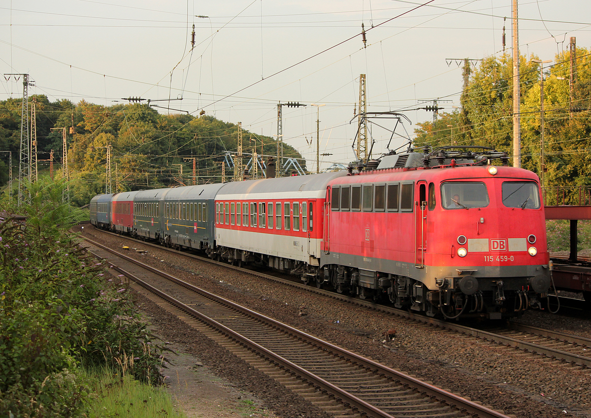 115 459-0 am NF13401 nach Alessandria(I) in Köln West am 30.08.2013