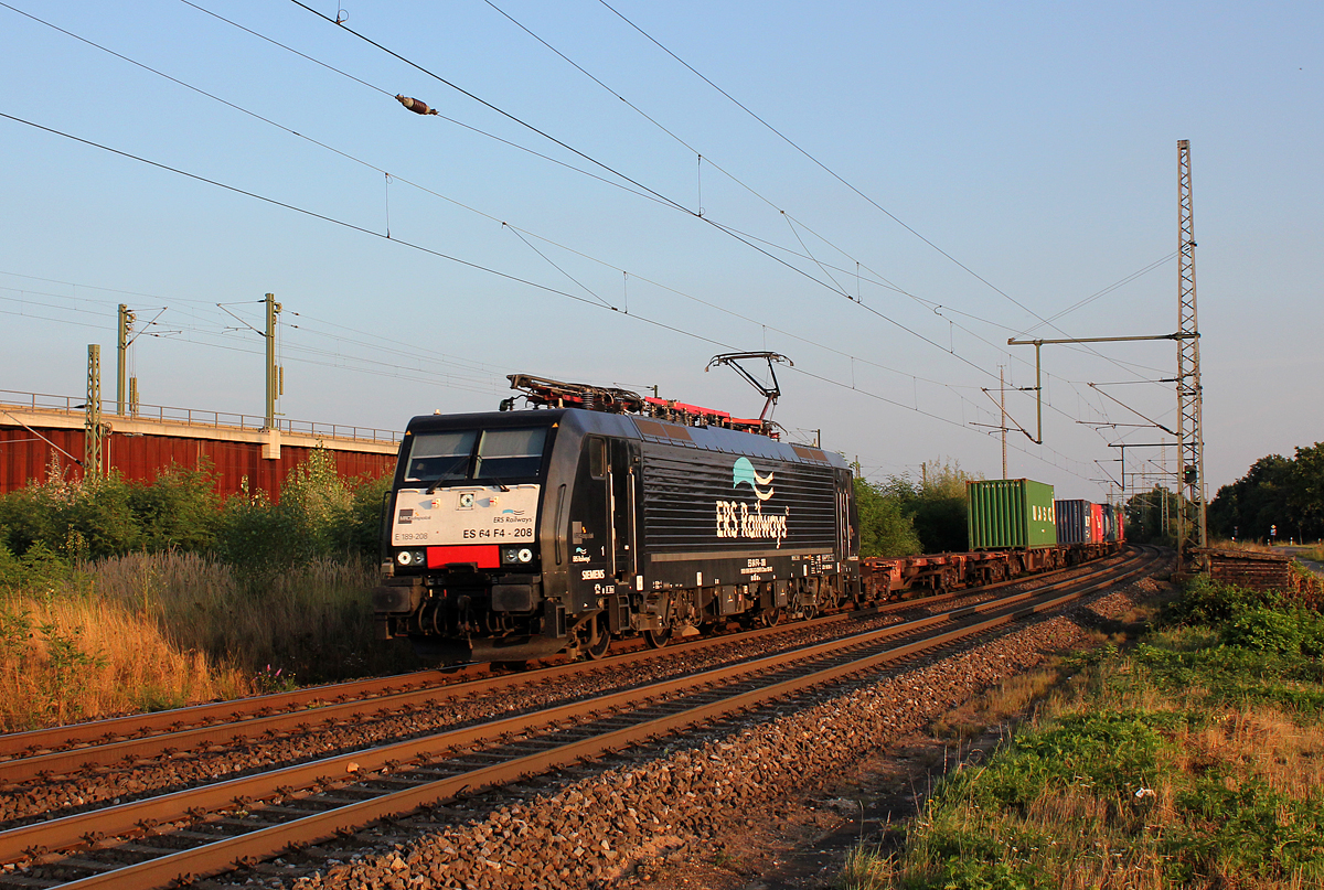 189 208 / ES 64 F4-208 in Porz Wahn am 03.09.2013