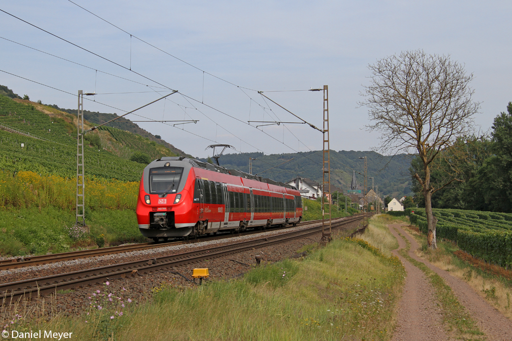 Der 442 705 in Pommern ( Mosel ) am 22.08.2013