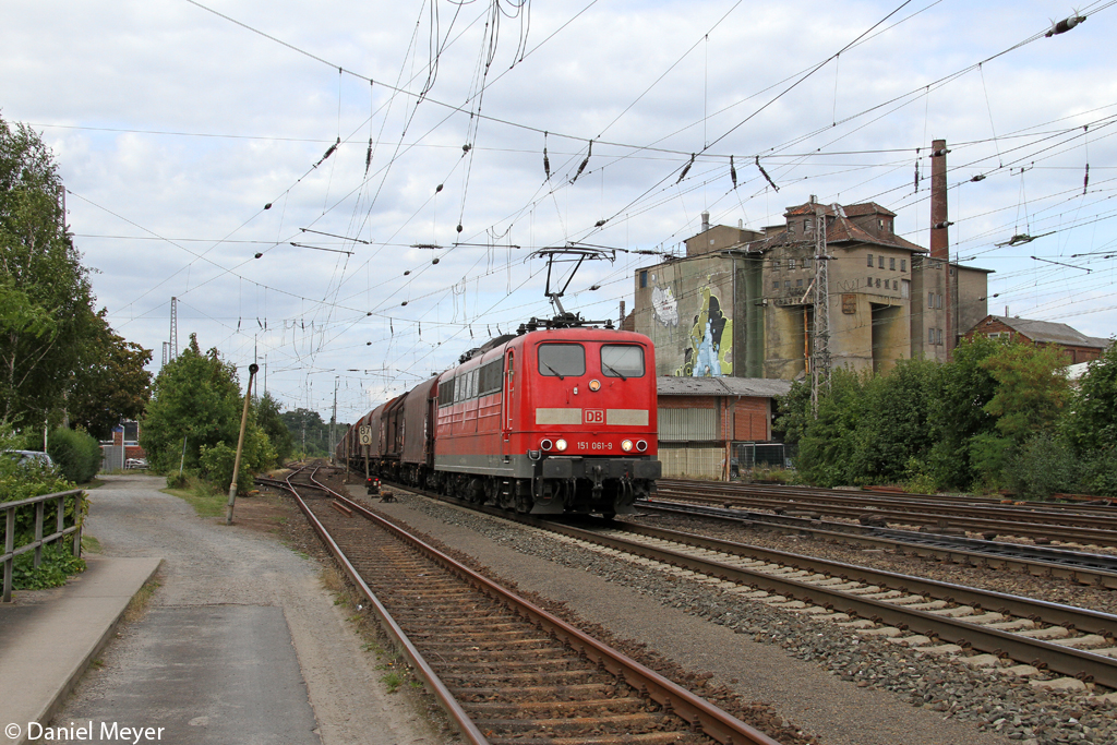 Die 151 061-9 in Verden (Aller) am 27.08.2013