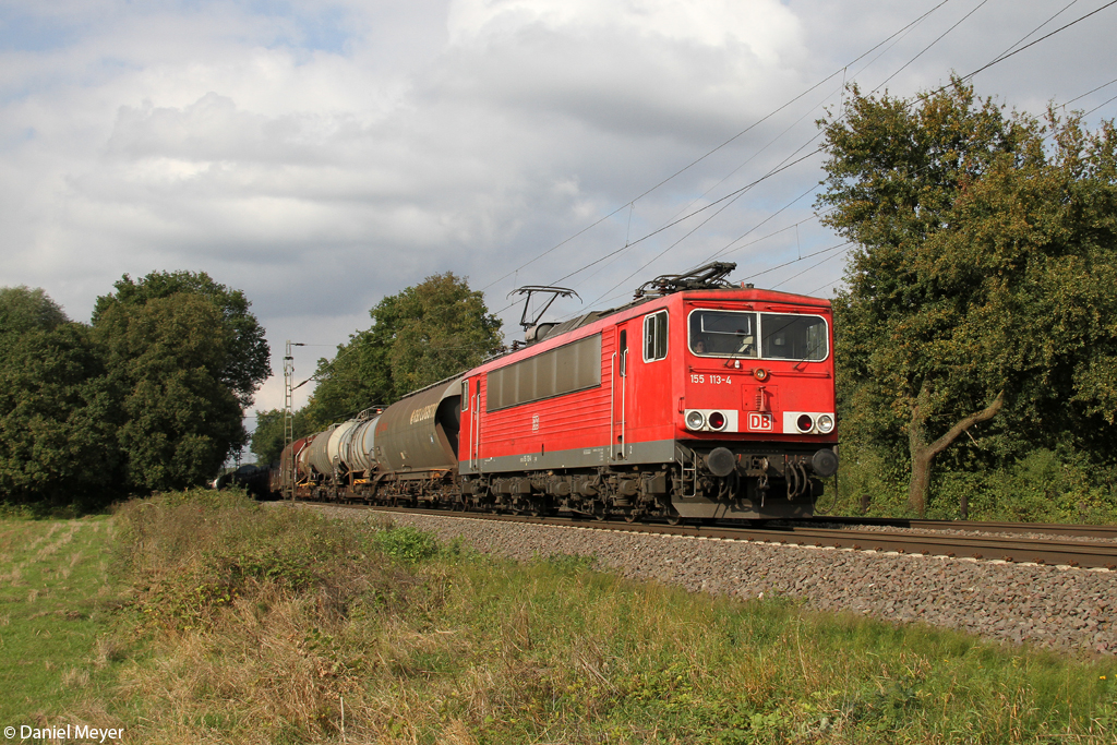 Die 155 113-4 in Ratingen Lintorf am 26.09.2013