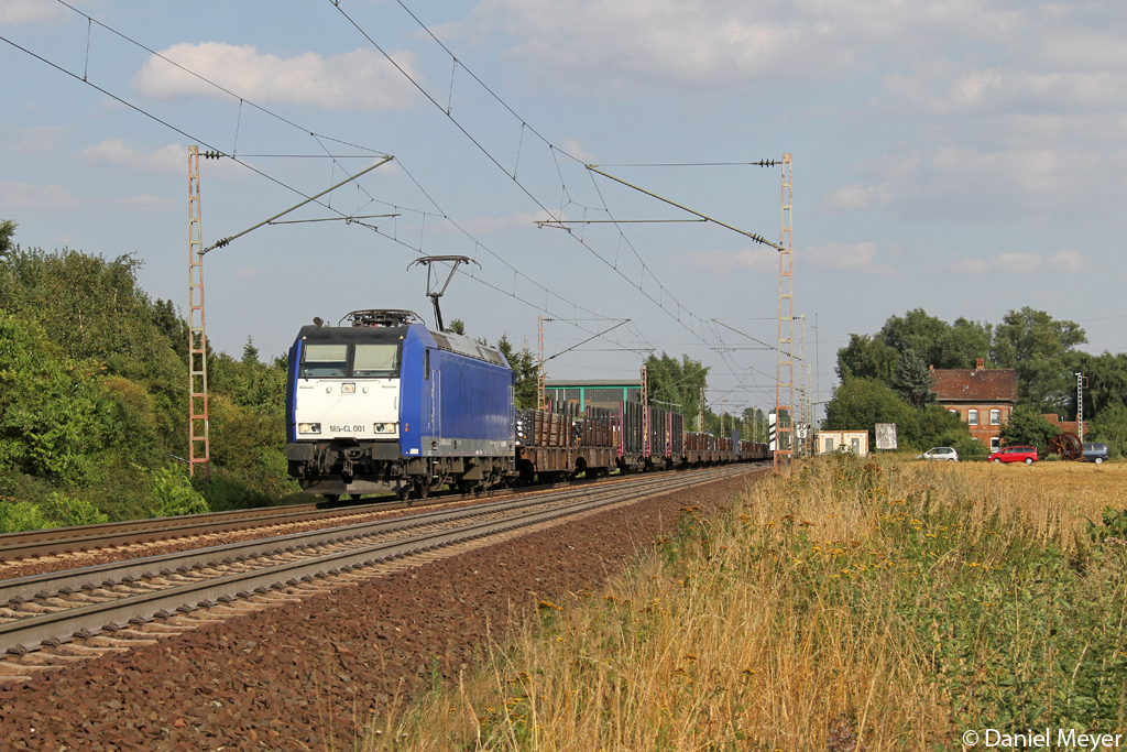 Die 185-CL 001 in Vöhrum am 05.08.2013