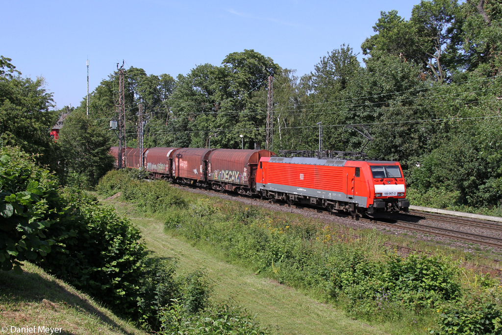 Die 189 067-2 in Ratingen Lintorf am 03.07.2014