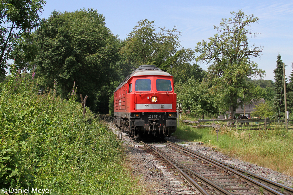 Die 232 561-1 in Flandersbach am 03.07.2014