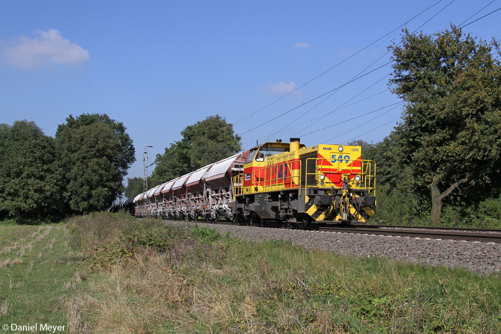 Die E&H 549 in Ratingen Lintorf am 27.09.2013