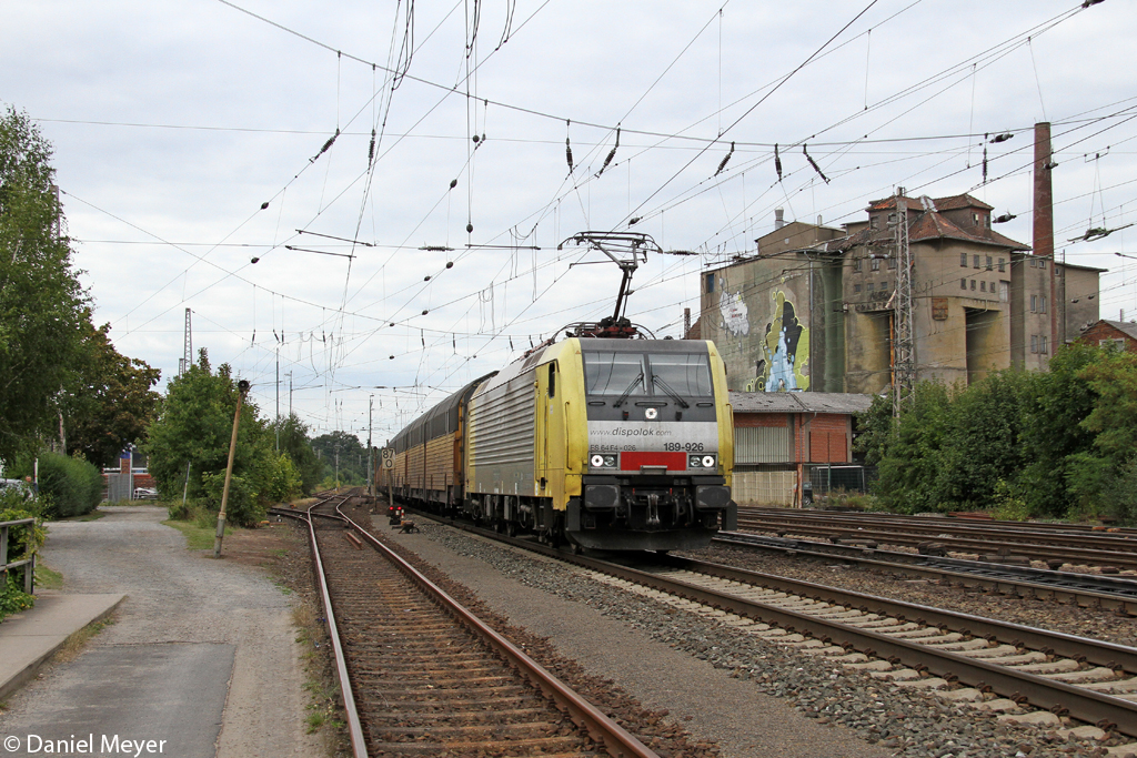 Die ES 64 F4-026 / 189 926 in Verden (Aller) am 27.08.2013