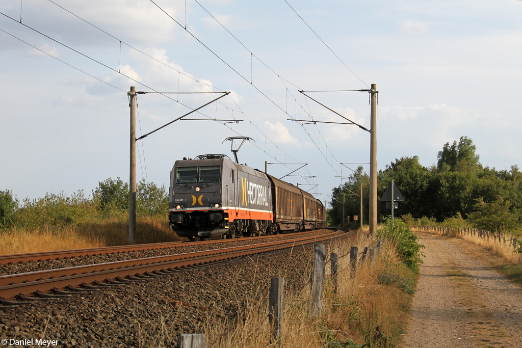 Die Hectorrail 241 001 in Jagel am 06.08.2014
