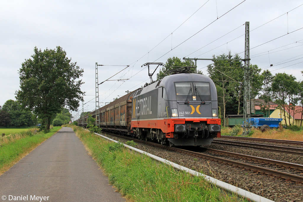 Die Hectorrail 242.502  ZURG  in Brokstedt am 19.07.2013