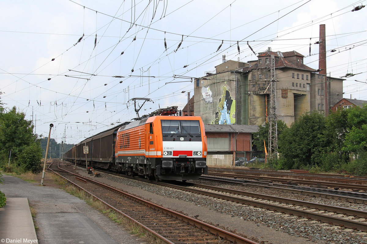Die Locon 189 821 in Verden (Aller) am 07.08.2014