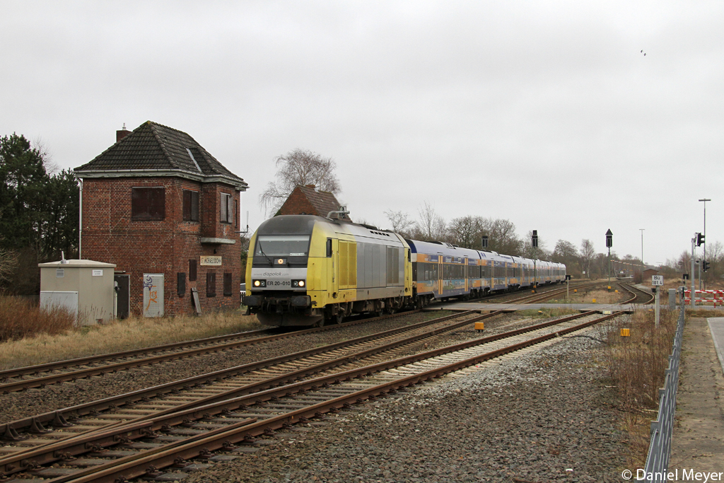 Die NOB ER 20-010 in Sankt Michaelisdonn am 16.03.2014