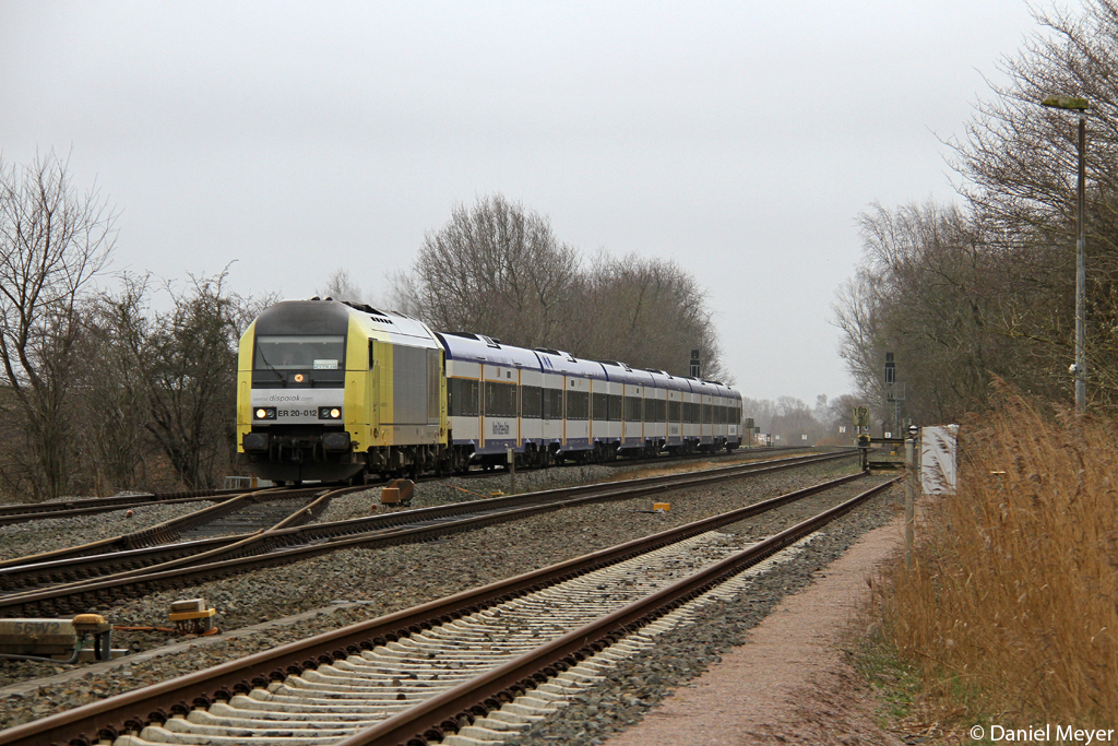 Die NOB ER 20-012 in Hemmingstedt am 16.03.2014