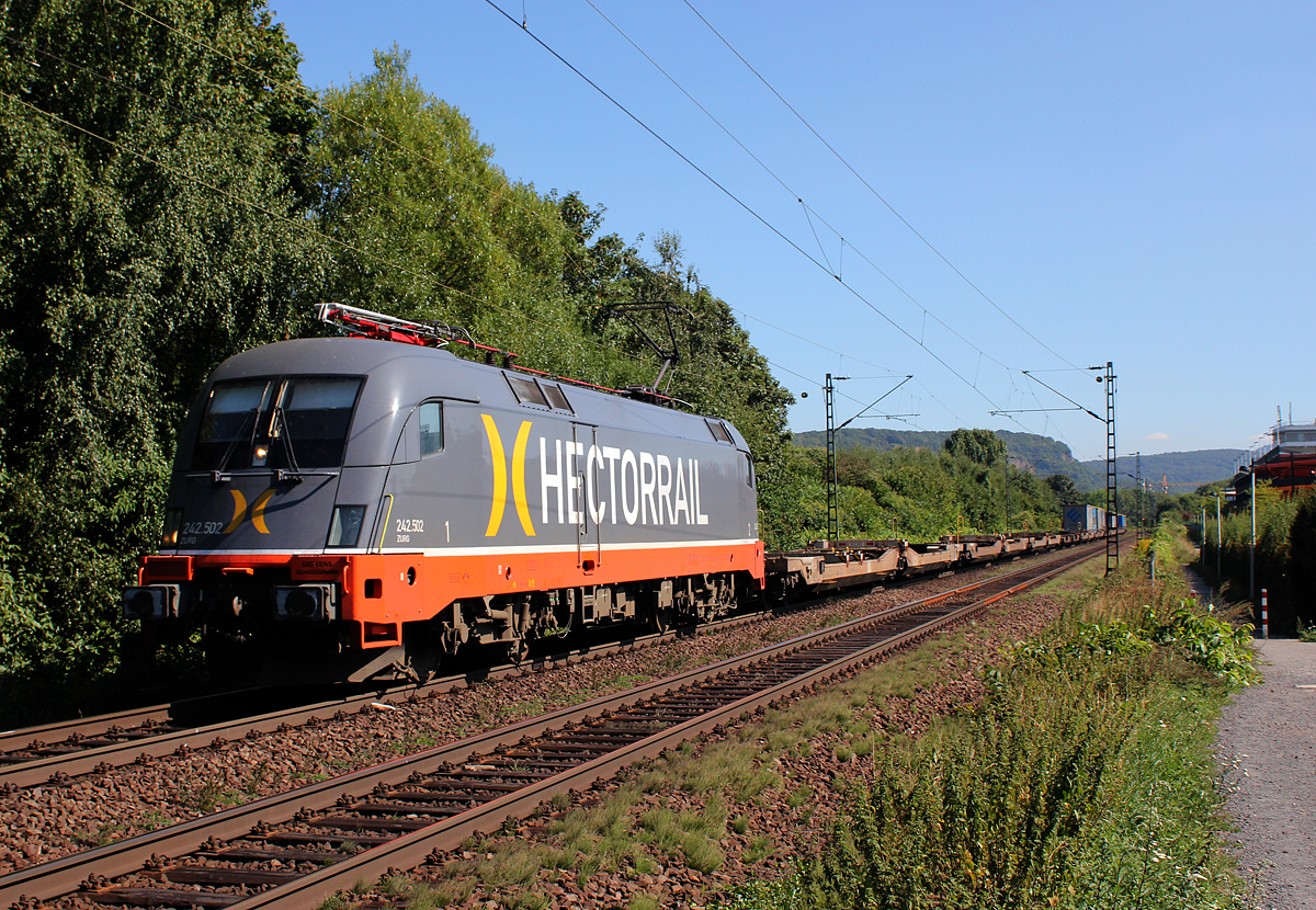 Hectorrail´s 242.502  Zurg  in Bonn Limperich am 04.09.2013