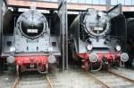 BR 19/44021/die-19-017-und-die-03-001-abgestellt Die 19-017 und die 03-001 abgestellt im Dresdener Eisenbahnmuseum am 11.07.09