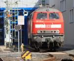 BR 218/64038/die-218-415-in-frankfurt-am Die 218 415 in Frankfurt am Main erwischt. Schade das am Wochenende keine 218er mit Dostos oder N-Wagen von Frankfurt nach Stockheim fahren und deshalb gelang mir diese Aufnahme am 11.04.2010