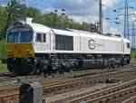 Class 77/91761/eine-class-77-der-uro-cargo Eine Class 77 der ¤uro Cargo Rail verlässt Gremberg Lz am 31.082010