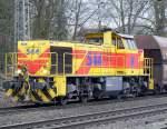 MaK G 1206/59620/e--h-544-in-ratingen-lintorf E & H 544 in Ratingen-Lintorf am 19,03,10