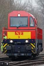 MaK G 2000/58386/die-ne9-der-neusser-eisenbahn-in Die NE9 der Neusser Eisenbahn in Dornap Hahnenfurt am 12,03,10