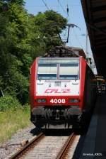 Auslandische Loks/81558/die-cfl-4008-stand-am-08072010 Die CFL 4008 stand am 08.07.2010 mit drei Dostos im Bahnhof Trier.