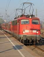 br-110-e10/125355/110-497-5-mit-dem-rb35-in 110 497-5 mit dem RB35 in Köln Messe/Deutz am 03.03.2011
