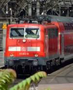 BR 111/115331/111-013-9-faehrt-mit-re-9 111 013-9 fährt mit RE 9 (Rhein-Sieg-Express) am 20.07.2009 vom Hauptbahnhof Köln Richtung Gießen. Seid 12. Dezember 2010 fährt der RE 9 nur noch bis Siegen.