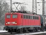 br-140-e40/51682/140-621-4-verlaesst-den-gbf-koeln 140 621-4 verlässt den Gbf Köln Gremberg mit gem. Gz. am 27.01.2010