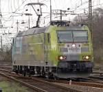 BR 185/62071/185-152-6-kommt-lz-nach-gremberg 185 152-6 kommt Lz nach Gremberg Gbf am 02.04.2010