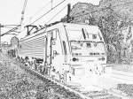 br-189-es-64-f4-xxx/104681/e-189-111-mie-einem-gemischten E 189 111 mie einem gemischten Güterzug in Bonn-Oberkassel.
