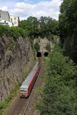 br-628-928/175991/der-928-495-als-rb-47 Der 928 495 als RB 47 richtung Solingen hat grade den westlichen Rauenthaler Tunnel passiert am 12,07,11