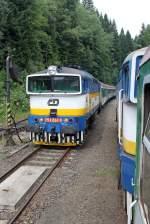 BR 754/95884/die-754-024-8-bei-der-einfahrt Die 754 024-8 bei der einfahrt in Spicak am 05,08,10